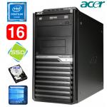 Acer Veriton M4610G MT G630 16GB 120GB+500GB DVD WIN10