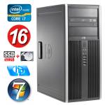 HP 8100 Elite MT i7-860 16GB 480SSD+1TB NVS450 DVD WIN7Pro