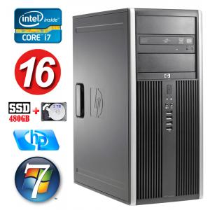 HP 8100 Elite MT i7-860 16GB 480SSD+2TB NVS450 DVD WIN7Pro