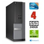 DELL 3020 SFF i3-4130 4GB 240SSD GT1030 2GB DVDRW WIN10Pro