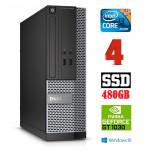 DELL 3020 SFF i3-4130 4GB 480SSD GT1030 2GB DVDRW WIN10Pro