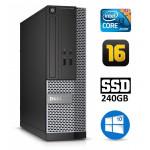 DELL 3020 SFF i3-4130 16GB 240SSD DVDRW WIN10Pro