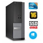 DELL 3020 SFF i3-4130 16GB 480SSD DVDRW WIN10Pro