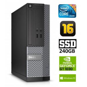 DELL 3020 SFF i3-4130 16GB 240SSD GT1030 2GB DVDRW WIN10Pro