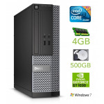 DELL 3020 SFF i3-4130 4GB 500GB GT1030 2GB DVDRW WIN7Pro