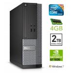 DELL 3020 SFF i3-4130 4GB 2TB GT1030 2GB DVDRW WIN7Pro