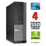 DELL 3020 SFF i3-4130 4GB 240SSD GT1030 2GB DVDRW WIN7Pro