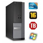 DELL 3020 SFF i3-4130 16GB 1TB DVDRW WIN7Pro