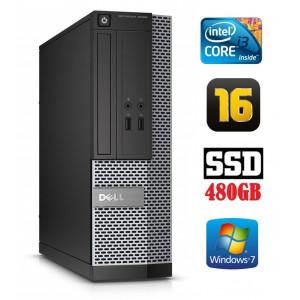 DELL 3020 SFF i3-4130 16GB 480SSD DVDRW WIN7Pro