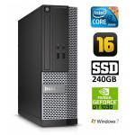 DELL 3020 SFF i3-4130 16GB 240SSD GT1030 2GB DVDRW WIN7Pro