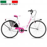 Pilsētas velosipēds  Esperia Olanda 26 White/Fuxia (Rata izmērs: 26