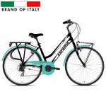 Pilsētas velosipēds Esperia TRK.28 6V Donna Black/Aquamarina (Rata izmērs: 28
