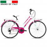 "Pilsētas velosipēds Esperia TRK.28 6V Donna White/Fuxia (Rata izmērs: 28"" Rāmja izmērs: 17"") 65969"