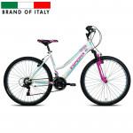 Kalnu velosipēds Esperia 8250 26 21V TZ500 Grip White/Skyblue (Rata izmērs: 26