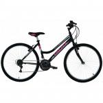 "Frejus MTB pusaudžu velosipēds – melns ar rozā (Rata izmērs: 26"") 2926"